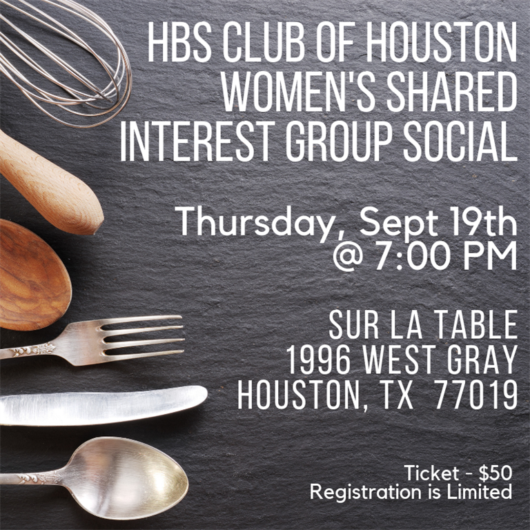 Harvard Business School Club of Houston - 09-19-19 Women's